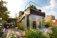 684 Broadway, Penthouse 12E  Greenwich Village, Manhattan, New York - We love this green roof that is both decorative, and extra living space. Nicely done!