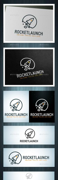 Rocket Launch Logo — Photoshop PSD #star #fly • Available here → https://graphicriver.net/item/rocket-launch-logo/17371375?ref=pxcr