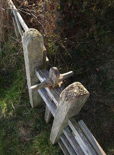 Dog gate beside stile near Coleton Fishacre Portal, South West Coast Path, Homestead Farm, Stiles, Fences, Gates, Cottages, Homesteading, Sheep