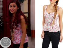 Shop Your Tv: Sam & Cat: Season 1 Episode 6 Cat's Pink Floral Peplum Top