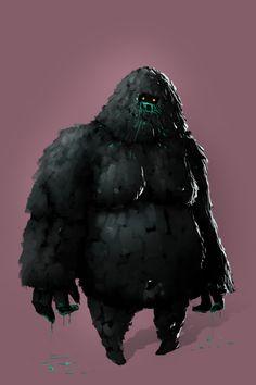 Hungry Creature, Gediminas Skyrius on ArtStation at https://www.artstation.com/artwork/Eg4DK