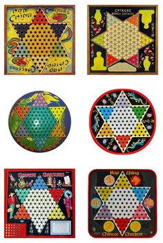 Vintage Chinese Checkers Boards Printables