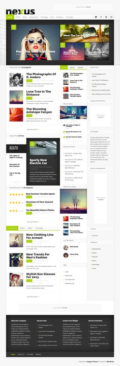 Grid Magazine // Hi Friends, want to see more pins like this? Make sure to follow our board @moirestudiosjkt #webdesign