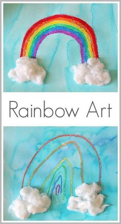 Rainbow Art for Kids using oil pastels: Perfect for Spring and St. Patrick's Day!~ Buggy and Buddy