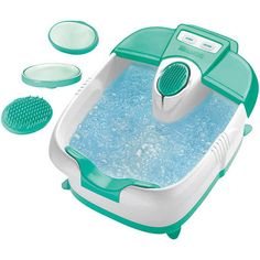 Foot Spa Heat Massage Bucket Foo Bath Relaxing Hydrotherapy Rolling Bubbles Spa  #FootSpaHeatMassageBucket62501