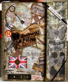 Tim Holtz Folio - This project showcases not only the wonderful range of Tim Holtz products but also was a great place to use my photos from a recent trip to London. #TimHoltz