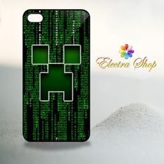 iPhone 4 4s Hard Case Minecraft creeper Face in by ElectraShop, $14.99