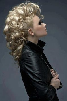 Wedding Hairstyles funky hairstyles for long hair.Wedding Hairstyles funky hairstyles for long hair Funky Hairstyles For Long Hair, Curly Mohawk Hairstyles, Formal Hairstyles, Pretty Hairstyles, Girl Hairstyles, Curly Hair Styles, Mohawk Updo, Mohawk Styles, Long Hair Mohawk