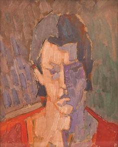 Self-Portrait - Constantin Piliuta Post Impressionism, Art Database, Portrait, Artist, Artworks, Paintings, Selfie, Headshot Photography, Paint