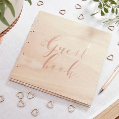 """Hochzeitsgästebuch - Holz-Gästebuch """"Beautiful Botanics"""" mit  - ein Designerstück von Lolima-Shop bei DaWanda"""