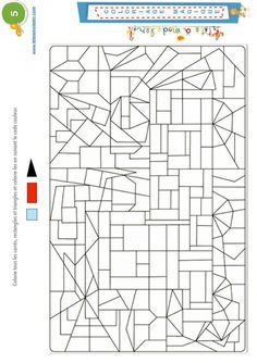 Magic Coloring 5: triangles, squares and rectangles