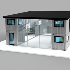Commercial and Retail developments. Optional residential additions Click the link in our bio to find out more. Building A Container Home, Container Buildings, Container Architecture, Architecture Design, Sustainable Architecture, Home Room Design, Small House Design, Shipping Container Home Designs, Shipping Containers
