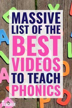 Videos for teaching phonemic awareness, CVC words, digraphs, and more phonics skills - all in one place! These are teacher tested and classroom approved! Phonics Videos, Phonics Lessons, Teaching Phonics, Phonics Activities, Teaching Kids, Family Activities, Phonics Books, Teaching Vocabulary, Teaching Geography