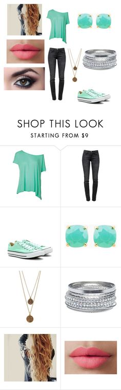 """""""Sam's off to college"""" by slytherindemigod ❤ liked on Polyvore featuring Current/Elliott, Converse, Bee Charming, Wet Seal and LORAC"""
