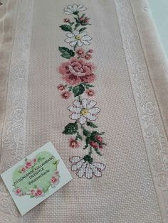 This Pin was discovered by ayl Cross Stitch Bookmarks, Cross Stitch Rose, Beaded Cross Stitch, Cross Stitch Borders, Cross Stitch Flowers, Cross Stitching, Cross Stitch Embroidery, Hand Embroidery, Cross Stitch Patterns