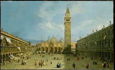 ITALY | Canaletto (Giovanni Antonio Canal) (Italian, 1697–1768). Piazza San Marco, 1720s. The Metropolitan Museum of Art, New York. Purchase, Mrs. Charles Wrightsman Gift, 1988 (1988.162) #WorldCup