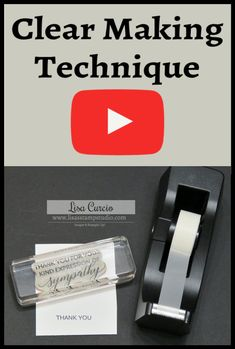 Quick tip video provides an easy way to mask images and words on rubber stamps. Card Making Tips, Card Making Tutorials, Card Making Techniques, Making Ideas, Making Tools, Making Cards, Bridal Shower Scrapbook, Mask Images, Hand Made Greeting Cards