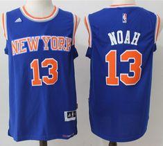 607164d66ef Knicks  13 Joakim Noah Blue Stitched NBA Jersey Joakim Noah