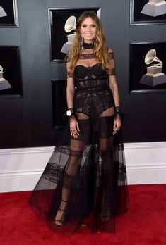 Heidi Klum Photos - TV personality-model Heidi Klum attends the 60th Annual GRAMMY Awards at Madison Square Garden on January 28, 2018 in New York City. - 60th Annual GRAMMY Awards - Arrivals