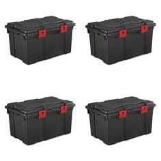 Sterilite 16 Gal./61 L Storage Trunk, Black