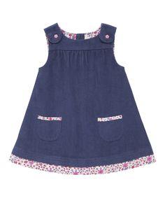 Look at this JoJo Maman Bébé China Blue Floral Corduroy Jumper - Infant, Toddler