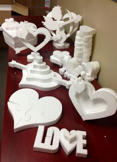 Just unpacked half of our new 3D Family-sized Valentines kit. Painting & decorating time!    Can't decide if I'm most excited for the picture frames or the heart puzzle!