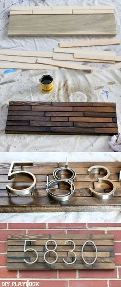 This DIY Modern Address plate will instantly upgrade your curb appeal. This unique address plate will instantly add modern style to the front of your house.