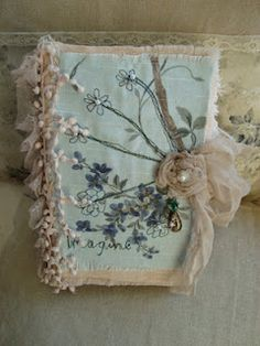 fabric journals by textile artist Frances Pickering. @Emily Beth ...