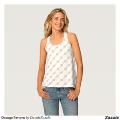 Orange Pattern Women's Tank Available on many more products! Type in the name of this design in the search bar on my Zazzle products page!   #abstract #art #pattern #design #color #accessory #accent #zazzle #buy #sale #fashion #clothes #apparel #tank #top #shirt #leggings #tights #women #living #modern #chic #contemporary #style #life #lifestyle #minimal #simple #plain #minimalism #square #line #white #orange