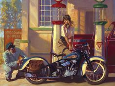 """Rose"" - Limited Editions - The Women of Harley- Davidson - David Uhl | Fine Art World"