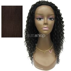 "Vivica Fox Natural ""Baby Hair"" Lace Front Deborah  - Color 4 - Synthetic (Curling Iron Safe) Baby Hair Lace Front Wig"