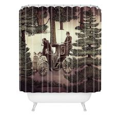 Belle13 My Grandpa Had A Bear Who Had A Squirrel Shower Curtain | DENY Designs Home Accessories