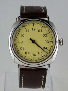 CREATION Montre MONO AIGUILLE type Unitas 6498 one hand watch Einzeiger Uhr BEB