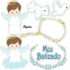 Cute Little Angel Free Printable Cake Toppers for First Communion. Here you have some Free Printable Cake Toppers for your Litt. Baby Boy Baptism, Baptism Party, Baby Boy Shower, Angel Theme, Baptism Decorations, Harry Potter Cake, Book Cakes, Diy Upcycling, Sons Birthday