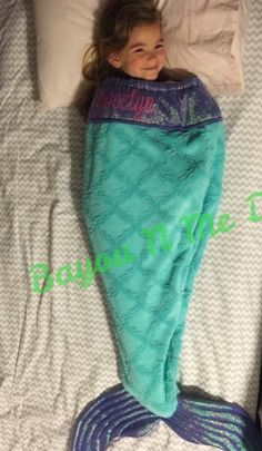 Minky Mermaid Tail Blankets by BayouNMeDesigns on Etsy
