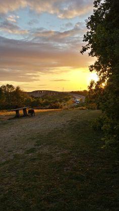 Sunset over the Orwell bridge Bridge, Celestial, Sunset, Purple, Outdoor, Outdoors, Purple Stuff, Sunsets, Bro
