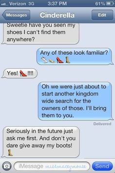 10 texts with Disney princesses