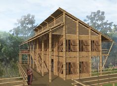 Healing the Hills with Handlooms Bamboo Architecture, Architecture Design, Bahay Kubo, Bamboo Structure, Rest House, Bamboo House, Arch Model, Green Building, Island Life