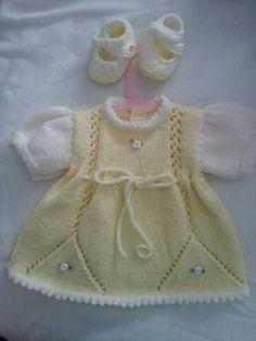 Baby Girl Cardigans, Baby Boy Sweater, Baby Sweaters, Baby Girl Dresses, Little Dresses, Baby Outfits, Toddler Outfits, Knit Baby Dress, Knitted Baby Cardigan