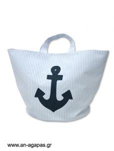 Τσάντα βάπτισης υφασμάτινη άγκυρα Goody Bags, Hats, Hat, Hipster Hat