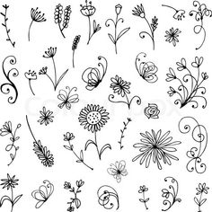 Stock vector of 'Sketch of floral elements for your design'