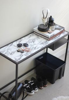 Smart and practical Ikea hack for the entryway.