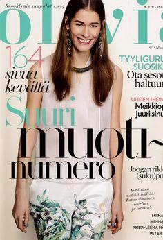 Silk top in magazine OLIVIA by POHJANHEIMO 2013