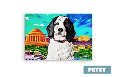 Custom Pet Art by Petsy Custom Dog Portraits, Pet Portraits, Gifts For Pet Lovers, Pet Gifts, Inspirational Gifts, Your Pet, Artists, Canvas, Detail