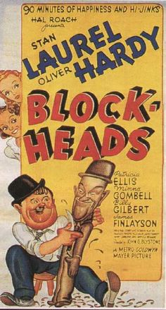 laurel and hardy block heads poster - Google Search
