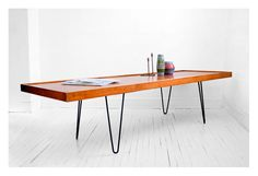 vintage hairpin legged coffee table