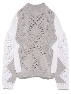 レーシージオメトリックセーター(ニット) FURFUR(ファーファー) ファッション通販 ウサギオンライン公式通販サイト
