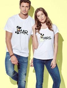 Disney Mickey Mouse T Shirt Couple Goals Nouveau Officiel Femme Skinny Fit
