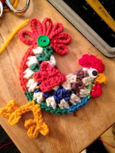 Crochet Birds, Easter Crochet, Love Crochet, Crochet Flowers, Knit Crochet, Crochet Coaster Pattern, Crochet Mandala Pattern, Afghan Crochet Patterns, Crochet Chicken