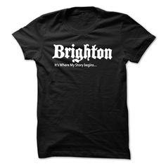 (Tshirt Coupon Today) Brighton Where My Story Begins [TShirt 2016] T Shirts…